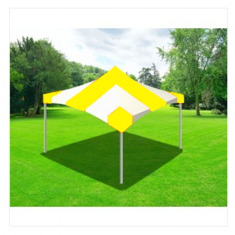 Tent - 20x20 Yellow/White High Peak