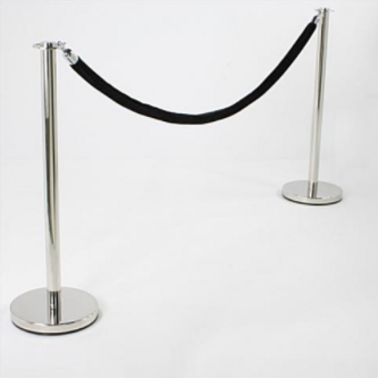 Stanchions with Black Ropes