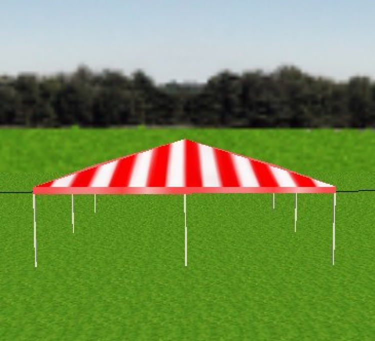 Tent - 30x30 Red/White Frame