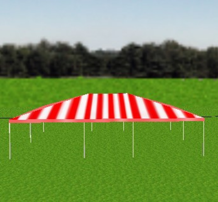 Tent - 30x40 Red/White Frame