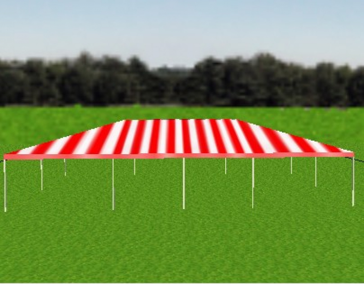 Tent - 30x50 Red/White Frame